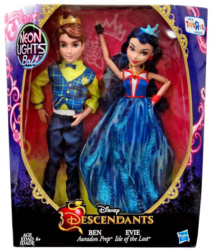 Disney Descendants Neon Lights Ball Ben & Evie Doll 2-Pack by Hasbro
