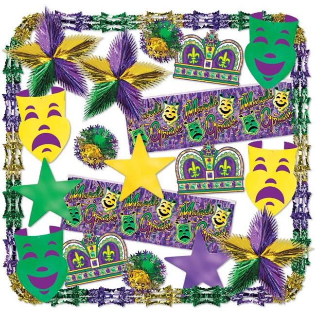 DDI 682181 Mardi Gras Metallic Decorating Kit - 22 Pieces  Case of 1