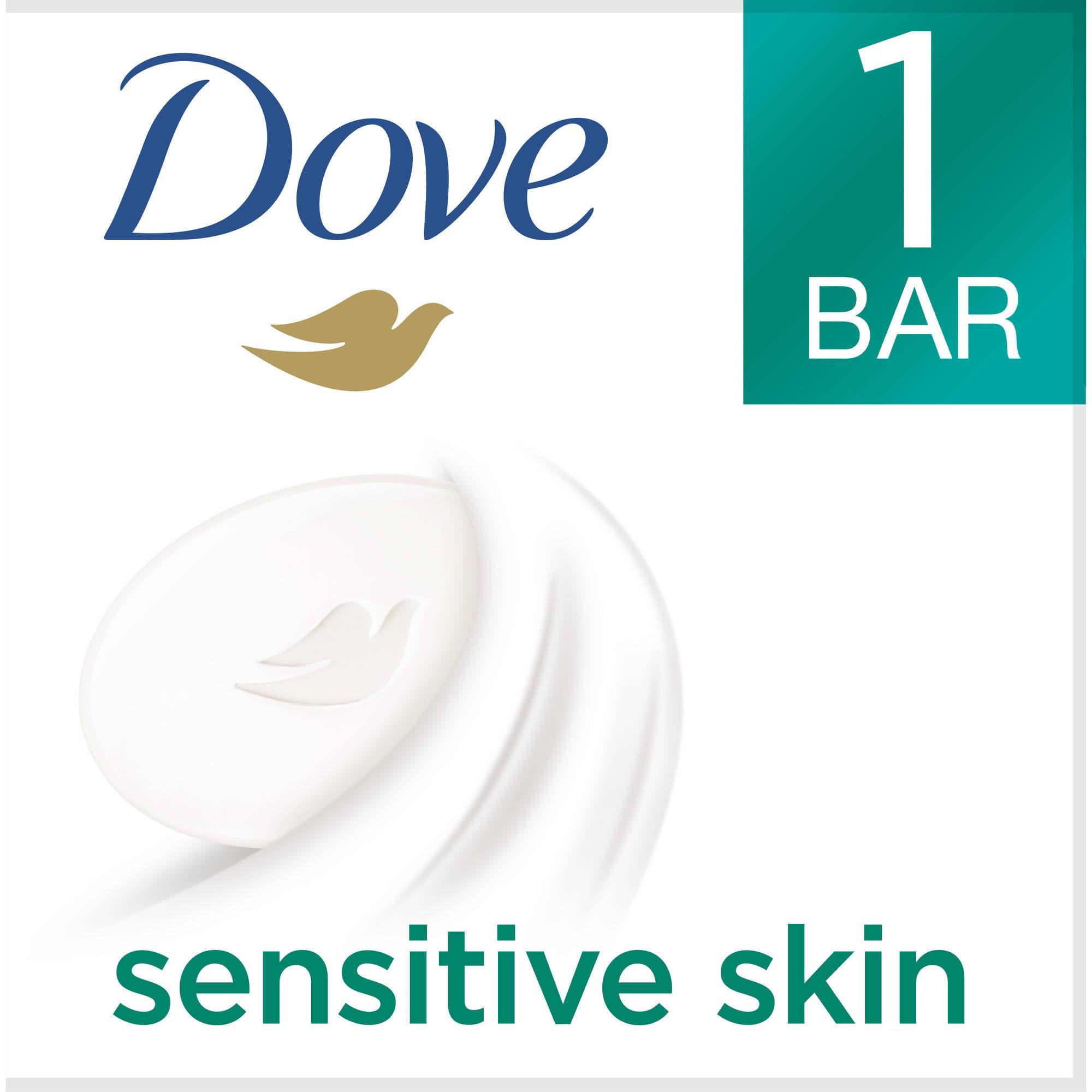 Dove Beauty Moisturizing Cream Bar Soap For Sensitive Skin, Unscented - 3.15 Oz