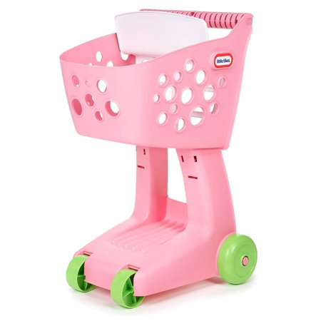 Lil' Shopper - Pink, Kid's shopping cart with large basket to hold play food and toys By Little Tikes The Lil' Shopper is a fun and durable shopping cart that is perfect for your toddler. Kids will love the large basket that holds plenty of toys and a folding seat for their favorite teddy bear to aWalmartpany them while 'shopping'. Features:  Kid's shopping cart with large basket to hold play food and toys  Foldable seat fits 12  doll or plush  Designed to nest with other Lil Shopper shopping carts  Tray underneath basket for additional toys  Four easy roll wheels  Lightweight and durable shopping cart which makes it easy to push for toddlers  No assembly required