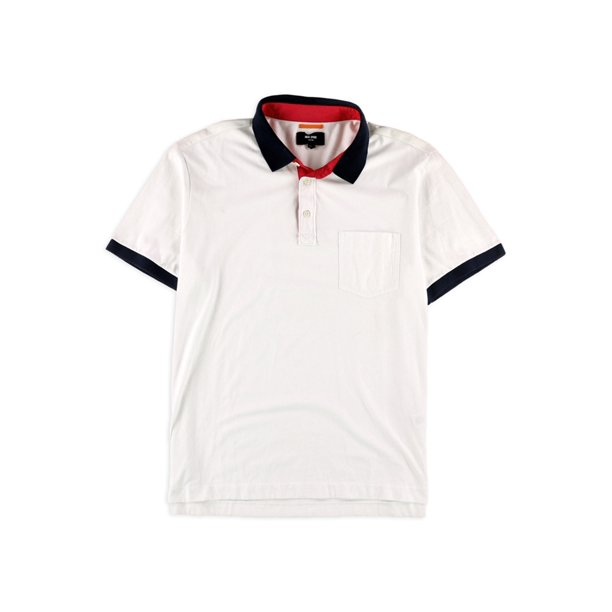 Jack Spade Mens Warren Colorblocked Rugby Polo Shirt white XL