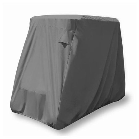 KHOMO GEAR Golf Cart Cover - TITAN Series - 4 Passenger UNIVERSAL Storage Cover with Air Vents, Zipper and Elastic (Vented Zippered)