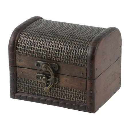 Antique Wooden Embossed Cosmetics Jewelry Storage Box Organizer (Embossed Organizer)