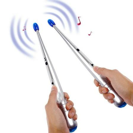 WALFRONT 1 Pair Electronic Drum Sticks Air Drumstick Children Lightweight Rhythm Sticks Kids Musical Party Gimmic Toy Personal Gift](Toy Soldier Drum)