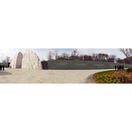Martin Luther King Jr Memorial at West Potomac Park The Mall Washington DC USA Canvas Art - Panoramic Images (42 x (New West Mall)