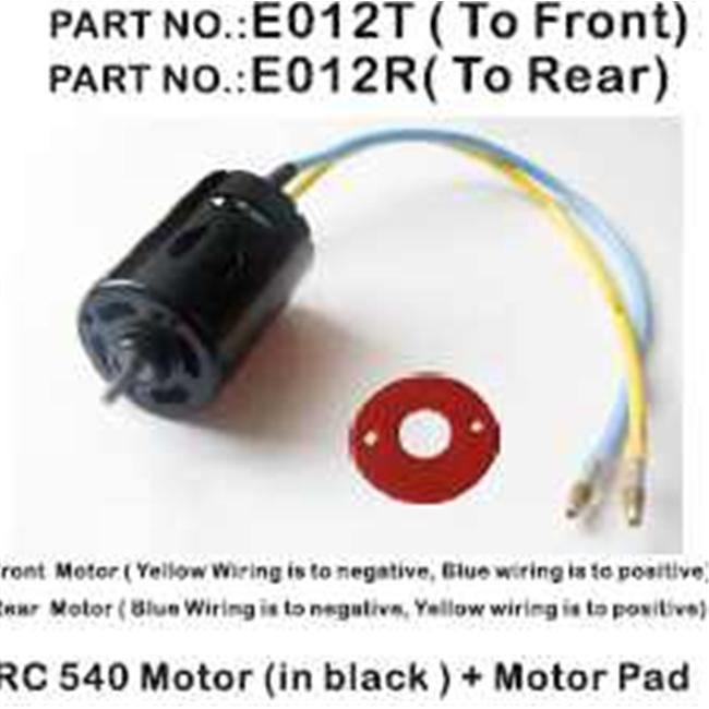 Redcat Racing E012R Motor RC540 -Casing in Black for Rockslide . 12 Scale