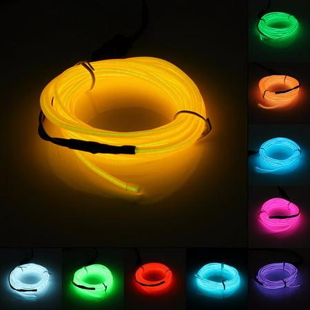 2M Flexible Neon Light Glow El Strip Tube Wire Kit+12V Inverter (El Wire Lights)