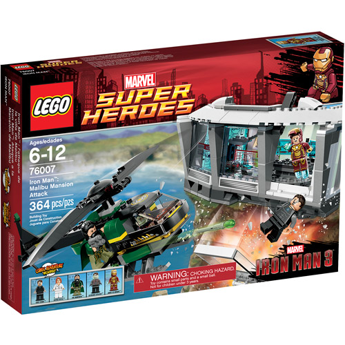 LEGO Super Heroes Iron Man Malibu Mansion Attack Play Set