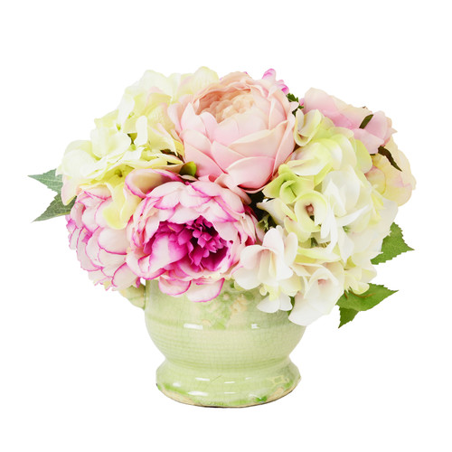 Creative Displays, Inc. Soft Pink Peony and Hydrangea Flower Urn