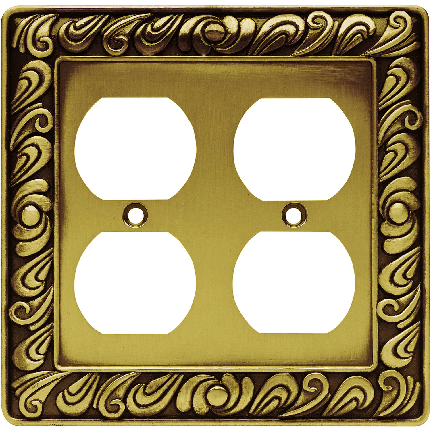 Franklin Brass Paisley Double Duplex Wall Plate, Available in Multiple Colors