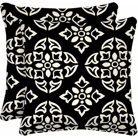 Better Homes & Gardens Black and White Medallion Outdoor Patio 16