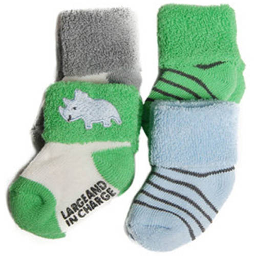 Child of Mine by Carter's Newborn Baby Boy Terry Cuff Socks 0-6M, 4 Pairs