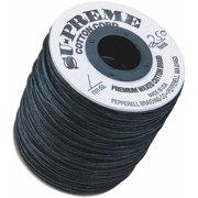 Black Waxed Cotton Cord, Black, 250-Yard Spool