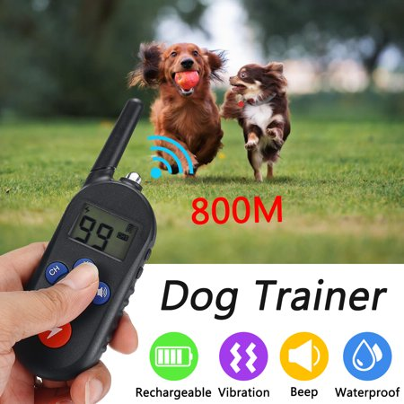 Deep Waterproof & Dog Training Collar with Remote Best for 1/ 2/ 3Dogs Swimming Training Electronic Shock Collar with Beep /Vibrate / Shock / LED