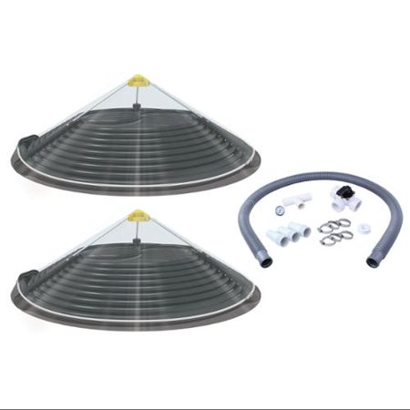 2 Kokido Duomo Solar Above Ground Pool Dome Shape Water Heaters And Bypass Kit