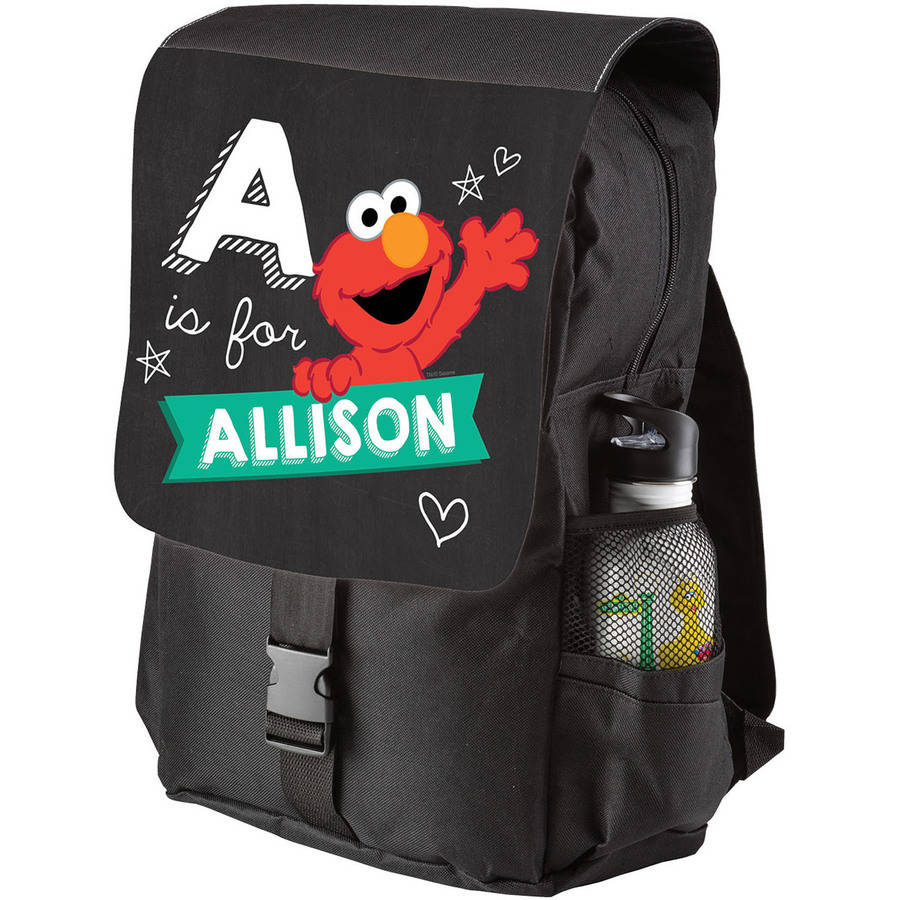 Personalized Sesame Street Elmo Hearts Backpack