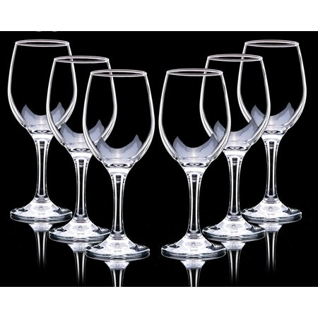 Deli Green Apple Clear LEAD FREE Wine Glasses 12 OZ/ 350 ML ( Set of 6)