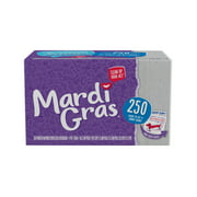 Mardi Gras Paper Napkins, White, 250 Ct