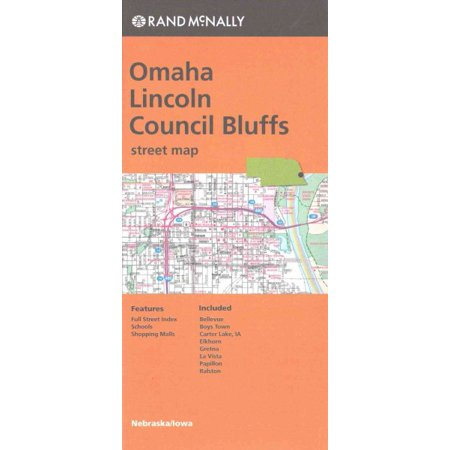 Folded map omaha/lincoln council bluffs ne street: 9780528007606 - Party America Omaha Ne