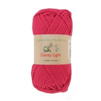 JubileeYarn Medium Gauge Worsted Weight Yarn - Dainty Light - 2 Skeins - 100% Cotton - Rosy Blush - Color 008