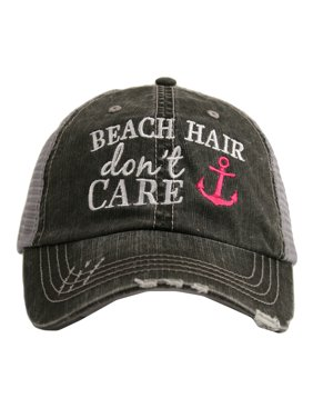 Katydid Beach Hair Don't Care Anchor Women's Trucker Hat