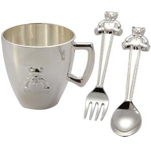 Bear Baby Cup, Spoon, Fork Set Fork Cup Set
