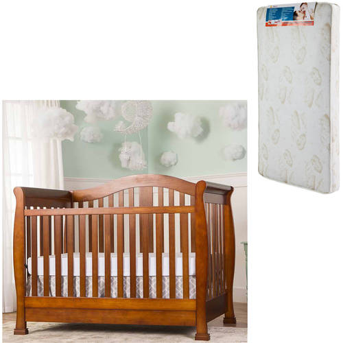 Dream On Me Addison 5-in-1 Convertible Crib and Mattress Value Bundle