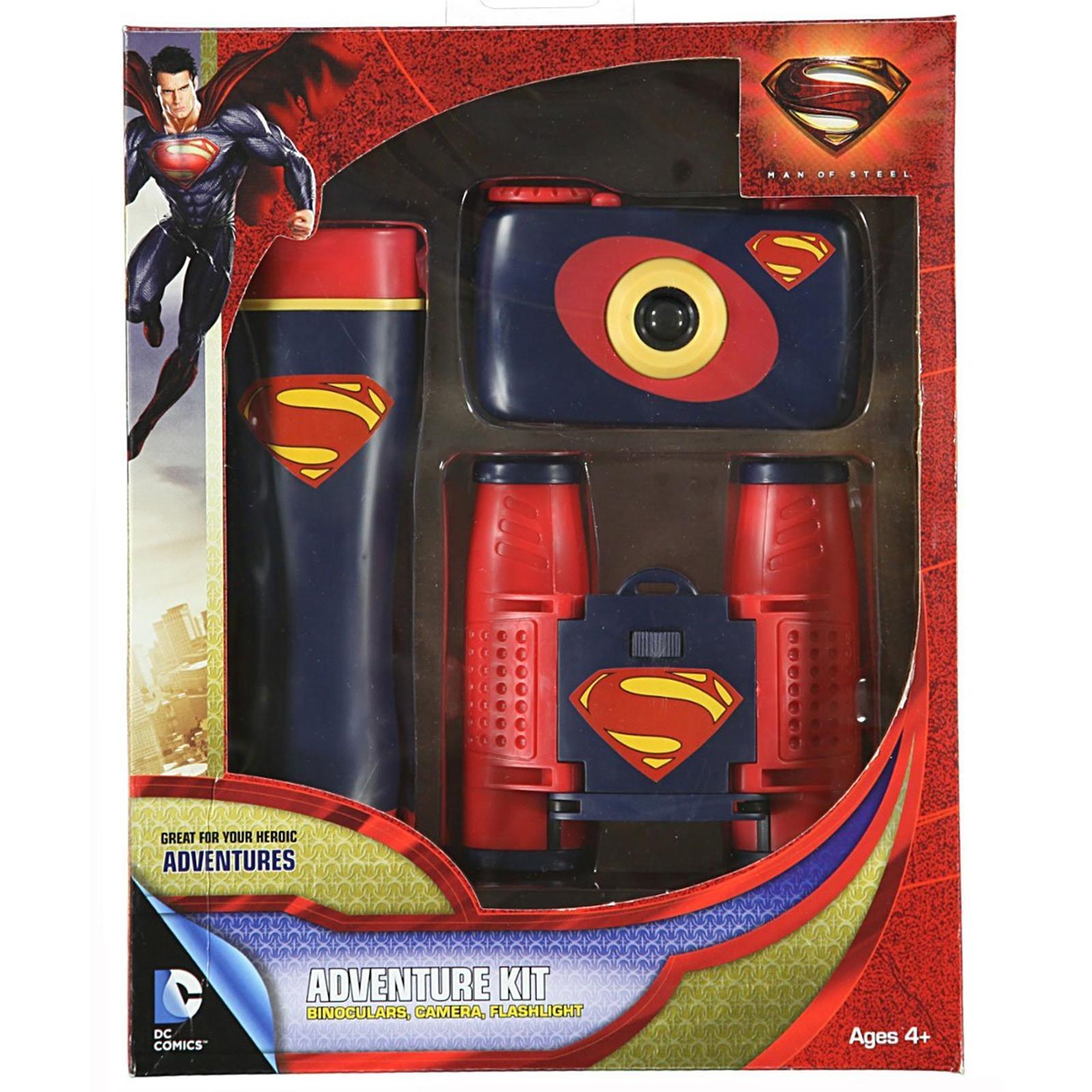 Sakar 26390 Superman 3-Piece Adventure Kit - Camera / Binoculars / Flashlight