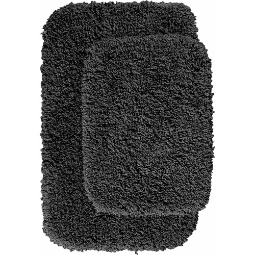 Serendipity Shaggy Nylon 2-Piece Washable Bathroom Rug Set