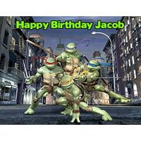 1/4 Sheet Teenage Mutant Ninja Turtles 90s TMNT Edible Frosting Cake Topper*