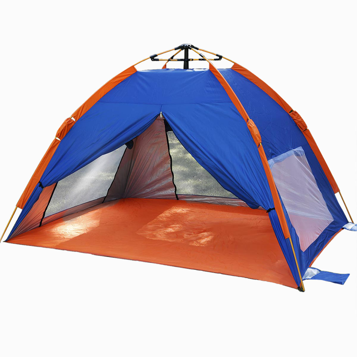 Qwest Instant Outdoor Beach Sun Shade Tent C&ing Canopy Shelter Portable Tarp Blue Orange  sc 1 st  Walmart.com & Qwest Instant Outdoor Beach Sun Shade Tent Camping Canopy Shelter ...