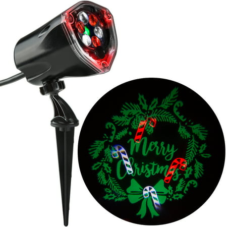 Lightshow Projection Light Whirl A Motion Static Wreath By Gemmy Industries