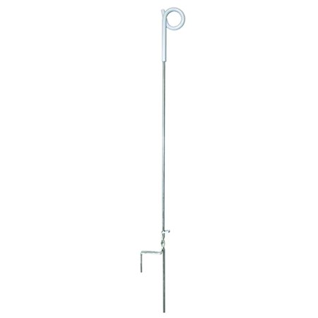 PTP39 Pig Tail Step-In Post, 39-Inch, Ideal for temporary electric fence enclosures or managed intensive grazing applications By Zareba