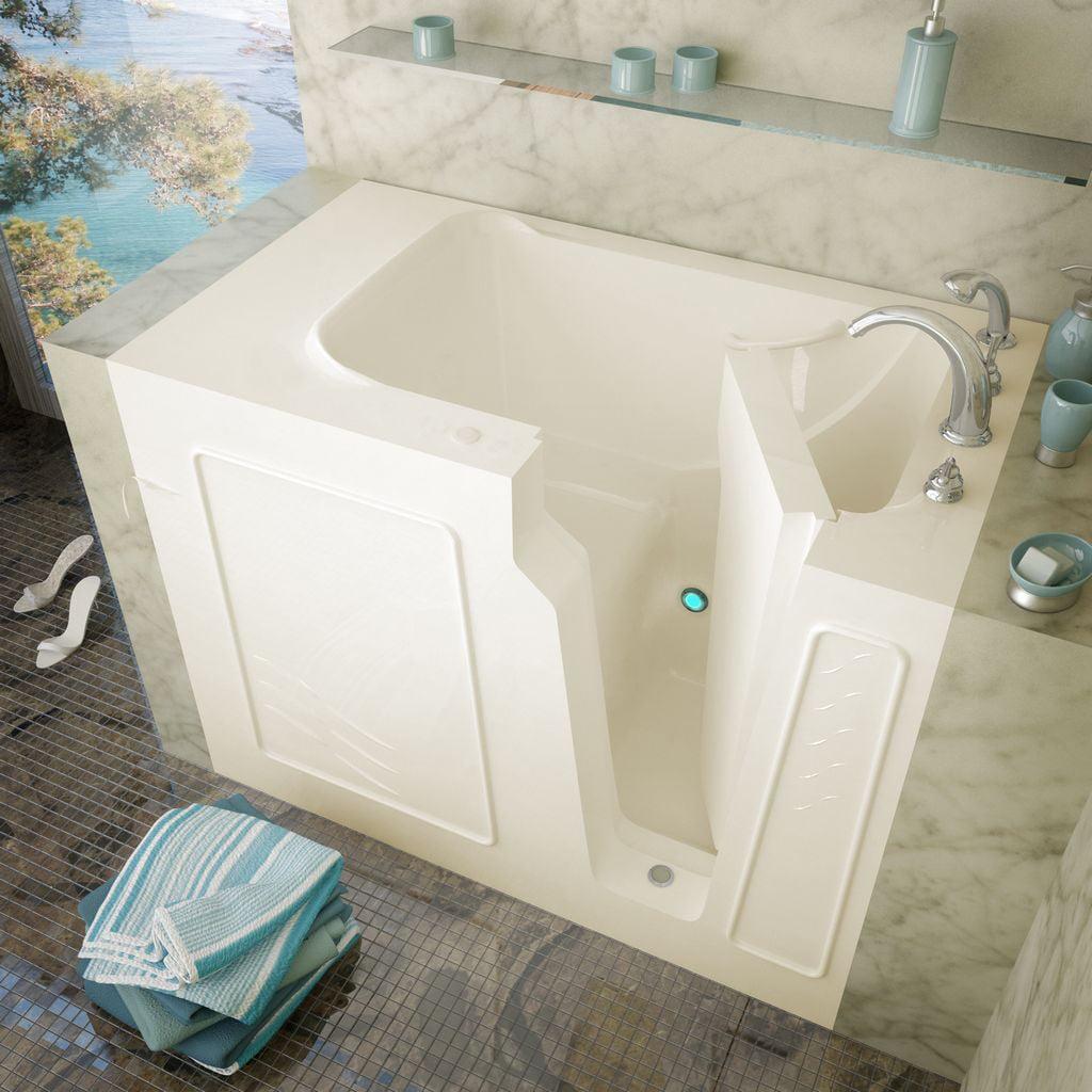 Meditub 29x52 Left Drain Biscuit Soaking Walk-In Bathtub
