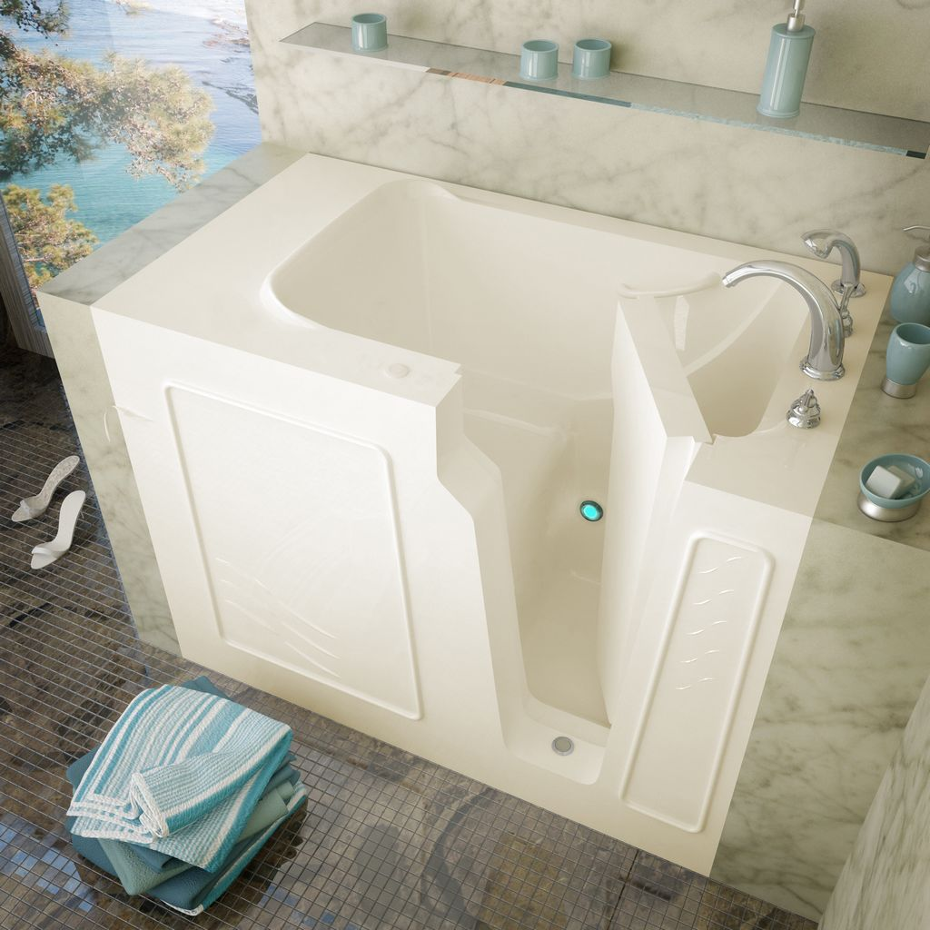 Meditub 29x52 Left Drain Biscuit Soaking Walk-In Bathtub