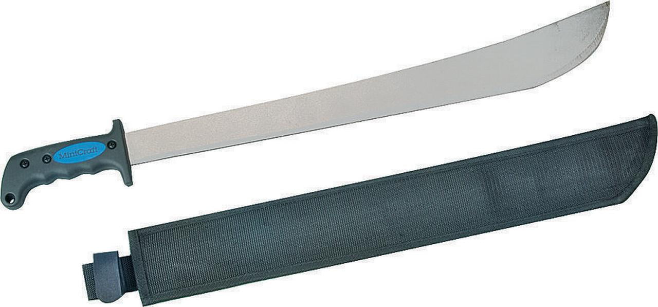 Landscapers 1973809 Machete, 22 in Fully Polished High Carbon Steel, Rubber Ergonomic Soft Grip Hand by Soundbest