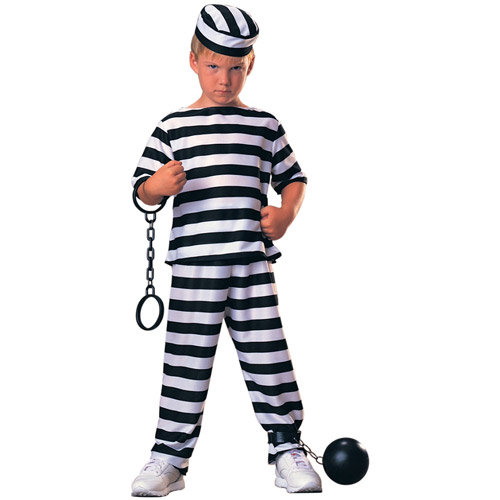 Prisoner Boy Child Halloween Costume