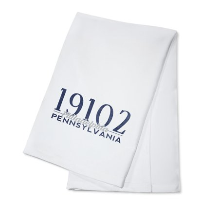 Philadelphia, Pennsylvania - 19102 Zip Code (Blue) - Lantern Press Artwork (100% Cotton Kitchen (Best Zip Codes In Philadelphia)