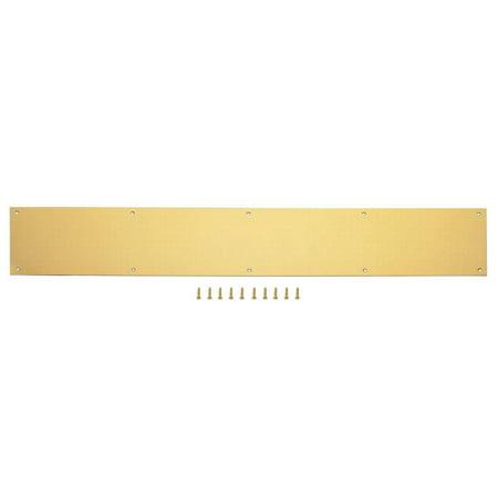Door Steel Kick Plate (ProSource Kick Plate, Aluminum, Bright)