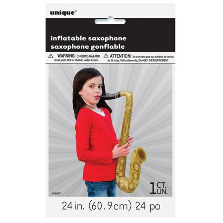 Inflatable Saxophone, 24 in, 1ct