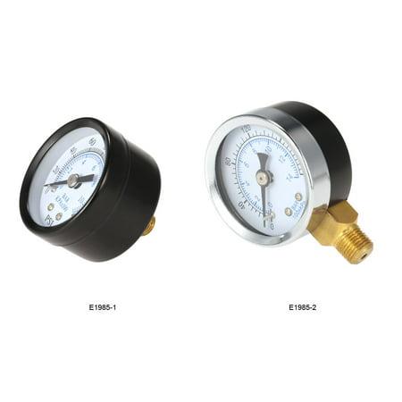 "40mm 0 ~ 160 psi 0 ~ 10bar Piscine Filtre Pression d'eau Cadran ""Thread NPT 1/8 hydraulique Manomètre Compteur Manomètre - image 6 de 7"