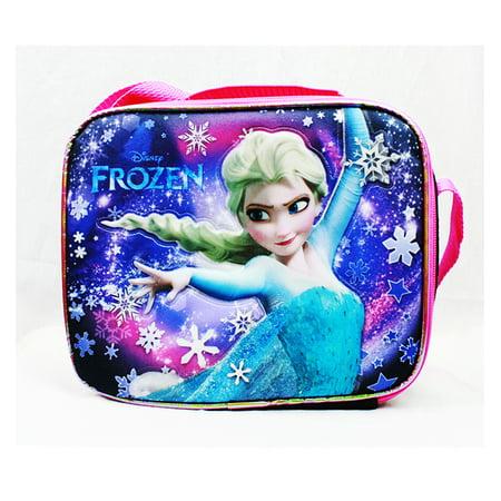 Elsa Snow Princess (Lunch Bag - Disney - Frozen Snow Princess Elsa Black Girls New)