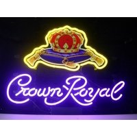 """Desung Brand New Crown Royal Neon Sign Handcrafted Real Glass Beer Bar Pub Man Cave Sports Neon Light 20""""x 16"""" WM02"""