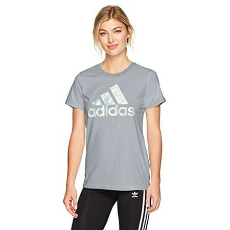 1a19b9380 adidas - adidas Women's Badge Of Sport Logo Tee, Medium Grey Heather,  X-Large - Walmart.com