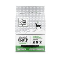 """""""I and love and you"""" Lovingly Simple Dry Dog Food, Limited Ingredient Lamb & Sweet Potato, 3.85 Lb"""