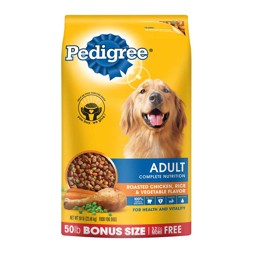 PEDIGREE Adult Chicken Flavor Dry Dog Food 50 Pounds