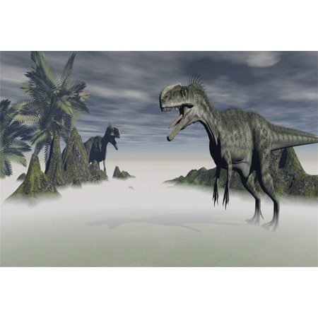 ABPHOTO Polyester 7x5ft Photography Backdrop Velociraptor Carnivore Predator Cretaceous Period Dinosaur Backdrops for Photo Shoots Party Adult Kids Baby Personal Portrait Photo Background Studio Props