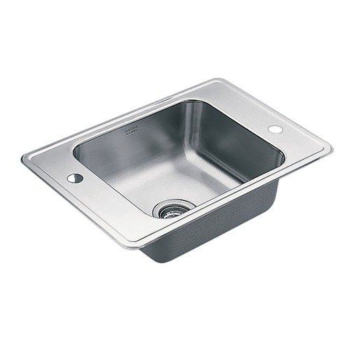 Moen 22132 Single Basin Drop-In Steel Kitchen Sink, Satin