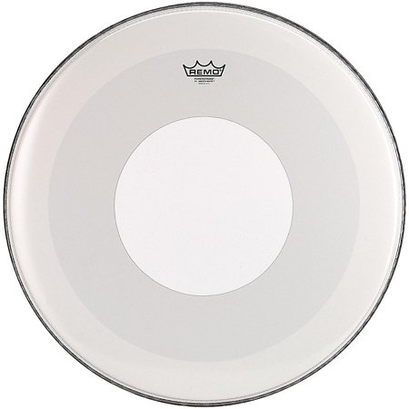 Remo Powerstroke 4 Smooth White Batter Bass Drum Head with White Dot 24 in. (12 Batter Drum Head)