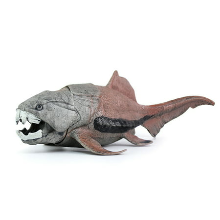 Simulate Dunkleosteus Oceanic Dinosaur Figure Jaw Movable Dinosaur Model Toys Educational Play Toy for Kids Color:As shown - Realistic Dinosaur Suit For Sale